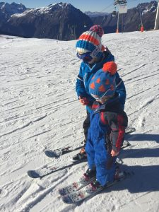 Children on the slopes at Vaujany
